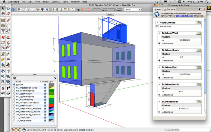 Sketchup To Phpp Passive House Planning Package Form