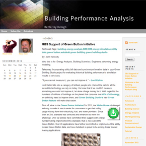 Welcome to a New Building Performance Analysis Blog