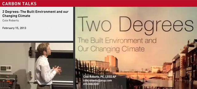 SFU Carbon Talks Dialogue - 2 Degrees: The Built Environment and Our Changing Climate