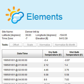 Elements - Weather File Editor and Visualizer